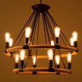 Lampe 2016 pendante moderne légère de lustre avec la corde de chanvre