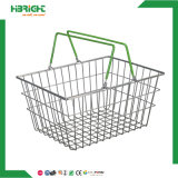 Highbright Supermarket Stackable Metal Carry Wire Mesh Shopping Basket