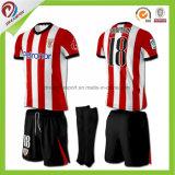 Futebol 100% em linha do Sublimation do poliéster da compra Jersey, camisola feito-à-medida do futebol do jogo do futebol