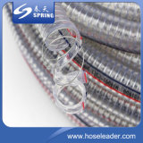 Tubulação de mangueira reforçada do fio de aço do PVC em industrial