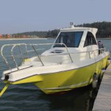 Barco de pesca colorido de la fibra de vidrio del casco