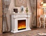 Découpage de la cheminée en bois pour d'intérieur
