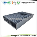 알루미늄 방열기가 건축재료 열 싱크 알루미늄 밀어남에 의하여 윤곽을 그린다