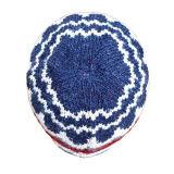 メンズ柔らかい伸張の無能のウールの冬によって編まれるジャカード暖かい帽子の帽子の帽子(HW426)