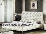 В европейском стиле честерфилд своим модным дизайном кровать из натуральной кожи