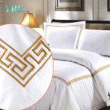 Hotel-Zubehör-stellte preiswerte Baumwollbettwäsche für Hotel-Wohnung ein