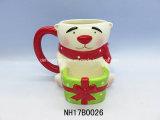 Tazza di ceramica del Babbo Natale della decorazione di natale con il coperchio