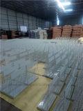 Cremagliera di visualizzazione della pietra del quarzo del pavimento del metallo per le mattonelle di ceramica con 7 mensole
