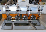 0809 router 4 capo, router di legno di CNC, tagliatrice di CNC di 4 assi di legno con 4 assi di rotazione per legno