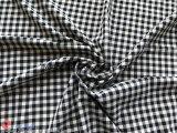Tessuto di stirata di nylon dello Spandex del jacquard dell'assegno del poliestere per l'indumento
