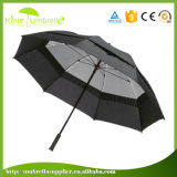 Pure Color Logo Custom Doubles To bush-hammer with Net Gauze Windproof Automatic Open Umbrella Golf