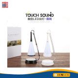 Altofalante sem fio portátil do OEM Bluetooth da lâmpada de tabela da música do diodo emissor de luz de 2017 toques com luz do diodo emissor de luz