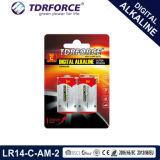 pile sèche de fabrication alkaline de 1.5V Digitals (LR14-C Size-AM2)