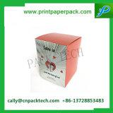 Rectángulo de regalo de empaquetado impreso color del rectángulo cosmético de papel del sombrero