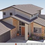 Тип плитка пульсации крыши металла камня Coated различных цветов