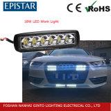 Luz de conducción de 18W luz LED de trabajo para la carretilla ATV SUV