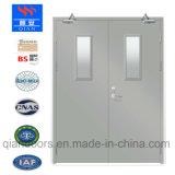 최신 판매 유리를 가진 강철 룸 양쪽으로 여닫는 문 내화성이 있는 문