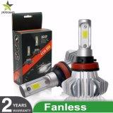 Nuevo Cheapest 6500K 8000LM Fanless Bombilla H1 H4 H7 9005 9006 Comercio al por mayor Super brillante Resistente al agua de faros automático de luces LED COCHE