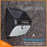 Indicatore luminoso senza fili solare impermeabile esterno di notte di obbligazione della piattaforma dell'iarda della parete del giardino della lampada di energia solare del sensore di movimento dell'indicatore luminoso 48 del LED