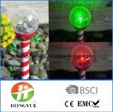 Lámpara solar de la estaca con la iluminación solar de la bola de la bola Crack de los 8cm
