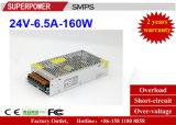 Fonte de alimentação do interruptor do excitador 24V 6.5A 150W do diodo emissor de luz para a iluminação do diodo emissor de luz