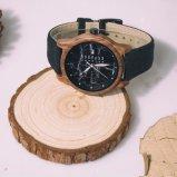 나무로 되는 물자 및 자동 날짜 특징 돌 시계