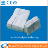 Spugna non sterile del giro del cotone dell'OEM per uso chirurgico 45cmx37cm-4ply non lavato