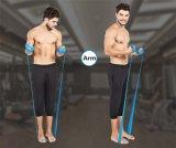 treinamento da faixa da cor-de-rosa da aptidão da corda do exercício da ginástica da faixa da resistência da ioga da alta qualidade da cinta do estiramento de Pilates da ioga das mulheres das Multi-Cores de 1.5m