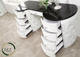 Кровать кожи спальни мебели гостиницы в короле Размере
