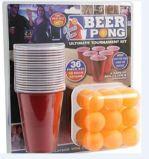 Горячая продавая игра Pong пива 2017 установила с пластичной чашкой