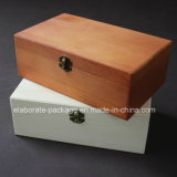 Piano lustré élevé peignant la caisse d'emballage réelle de mémoire de cadeau de cadre en bois