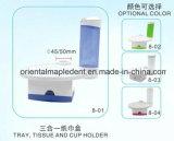 3 en 1 sostenedor dental de la bandeja/de taza/el rectángulo de papel del tejido para la silla dental