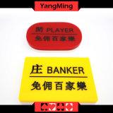 De acryl Reeks van de Knoop van het Baccarat van de Knoop van het Casino van de Bankier/van de Speler van Gravures Pook Specifieke Vastgestelde (yM-DB03)