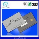 Plastikkarte des kontakt-IS mit Chip FM4442, FM4428