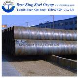 Grande tubo d'acciaio saldato del carbonio del diametro spirale