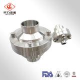 Flangia della valvola di ritenuta dell'acciaio inossidabile 304/316L/estremità centrali sanitarie della saldatura