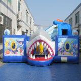 Gaint Handelshaifisch-Wal-scherzt aufblasbarer Vergnügungspark Spielplatz