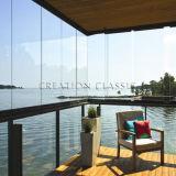 ISO/Ce/SGSの証明書が付いているドアまたはシャワーガラスのための3-19mmの平らな緩和されたガラス