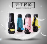 Super Mini cinco Floding paraguas para una fácil llevar