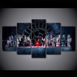5つのパネルの映画俳優戦争の居間の装飾のためのホーム装飾の壁映像を塗るプリントキャンバスの絵画壁のバックラム