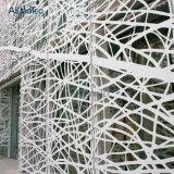 Fachada de aluminio del metal de hoja del panel de la cortina de la laca del aerosol