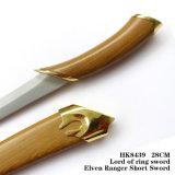 Senhor da espada de Legolas dos anéis com bainha 28cm HK8439