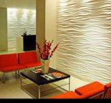 3D выбило панель стены волны 3D MDF PVC