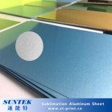 De sublimatie bedekte Geschikt om gedrukt te worden het Spatie Geborstelde Pearlescent Glanzende Blad van het Aluminium met een laag