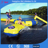 Sea Water Games Inflatable Trampoline with Slide and Water Blobs for halls