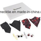 (B5) Lazo de los hombres de la manera, rectángulo de regalo, corbata de la armadura de la alta calidad,