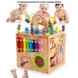 Hölzernes Raupe-Labyrinth nummeriert die Zeichen-Spiel-Würfel-Kleinkinder, die Spielwaren erlernen