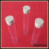 Labortransparentes flache Unterseiten-Borosilicat-Glas-Reagenzglas mit Korken