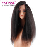 100% Brasilianer-Haar-verworrene gerade Spitze-Vorderseite-Perücke