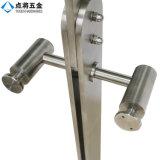Barandilla modificada para requisitos particulares del acero inoxidable de la superficie del satén para las escaleras